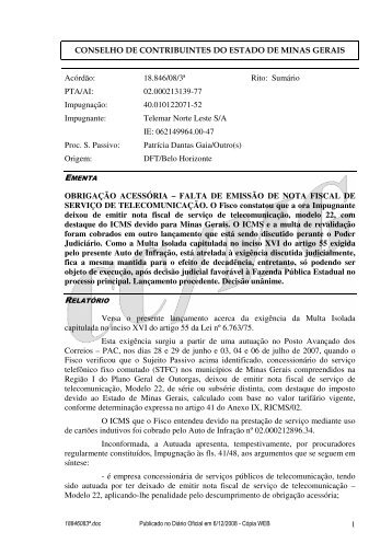 Microsoft Word - 18846083\252.doc - Secretaria de Estado de ...