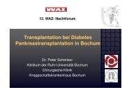 Transplantation bei Diabetes - Knappschaftskrankenhaus Bochum