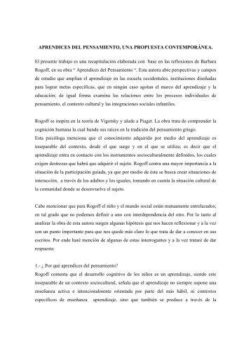 aprendices del pensamiento - Universidad Pedagógica de Durango