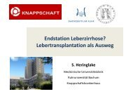 Lebertransplantation als Ausweg - Knappschaftskrankenhaus Bochum
