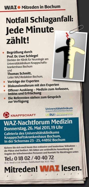 Notfall Schlaganfall - Knappschaftskrankenhaus Bochum