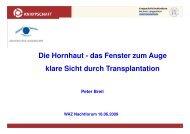 2. Hornhaut Transplant WAZ Nachtforum