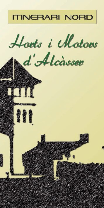 Llibre itineràri Horts nord - Ayuntamiento de Alcàsser