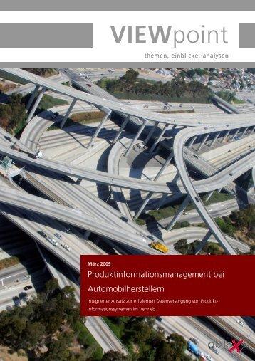 Viewpoint Produktinformationsmanagement - abilex Gmbh
