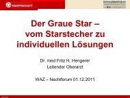 Der graue Star - vom Starstecher zu individuellen Lösungen