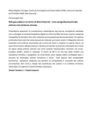 Diálogos públicos no centro de Belo Horizonte – uma ... - Corpocidade