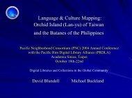 Austronesian Atlas - Pacific Neighborhood Consortium (PNC)