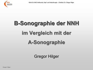 Ultraschall – Workshop B-Sonographie der NNH im Vergleich mit ...