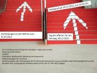 Anmeldungen an der KKR bis zum 01.03.2013 Tag der offenen Tür ...
