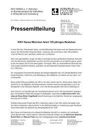 Pressemitteilung - KKV Hansa München