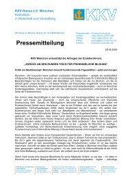 PM 20090529 Frühkindliche Bildung - KKV Hansa München
