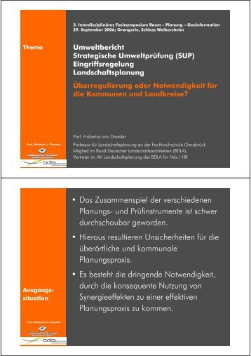 • Das Zusammenspiel der verschiedenen Planungs- und ... - Klaerle