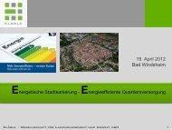 Energetische Stadtsanierung - Klaerle