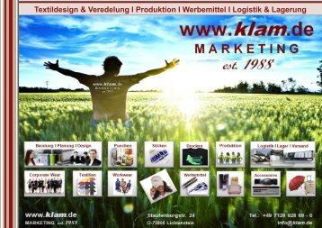 Textildesign & Veredelung I Produktion I ... - klam marketing