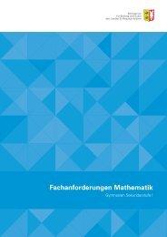 Fachanforderungen Mathematik - Klaus-Groth-Schule