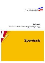 Sekundarstufe Lehrplan Spanisch - Lehrpläne