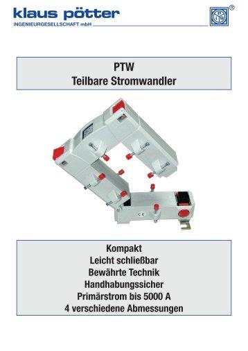 PTW Teilbare Stromwandler