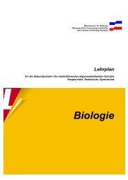 Sekundarstufe Lehrplan Biologie - Lehrpläne