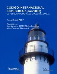 CÓDIGO INTERNACIONAL ICC/ESOMAR (Jan/2008) - Abep