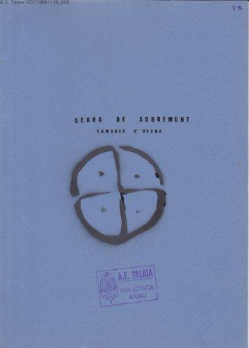 SllBBEMUilT - Biblioteca del Centre Excursionista de Catalunya