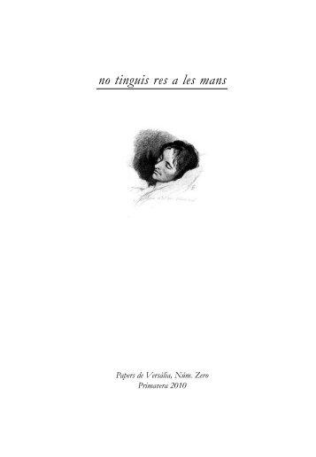 Plaquette en PDF - Papers de Versàlia
