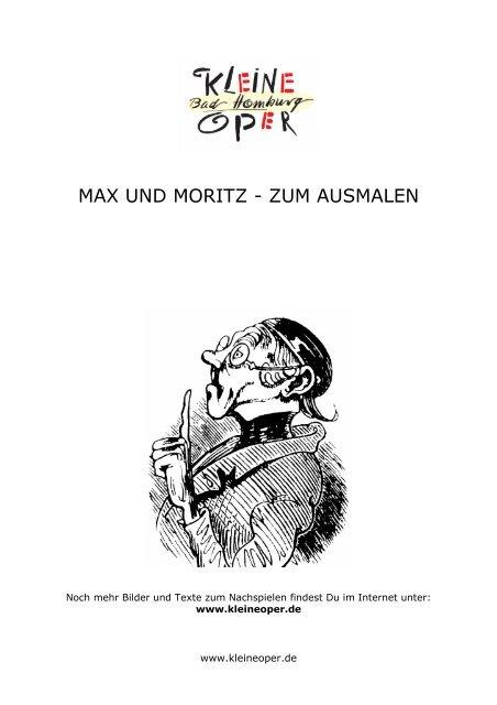 Max Und Moritz Zum Ausmalen Kleine Oper