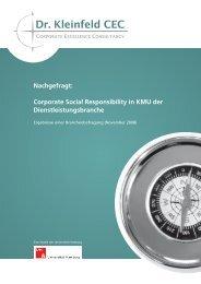 Corporate Social Responsibility in KMU der ... - Dr. Kleinfeld CEC