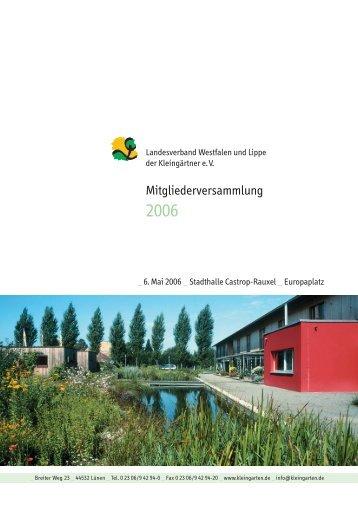 Mitgliederversammlung - Landesverband Westfalen und Lippe der ...