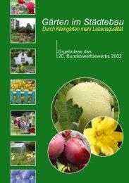 Gärten im Städtebau - Bundesverband Deutscher Gartenfreunde e. V.