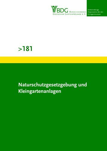 181 - Bundesverband Deutscher Gartenfreunde e. V.