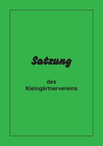 Mustervereinssatzung - Landesverband Westfalen und Lippe der ...