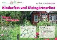 Kinderfest und Kleingärtnerfest - Bundesverband Deutscher ...