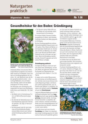 Gesundheitskur für den Boden - und Umweltschutz-Akademie NRW ...