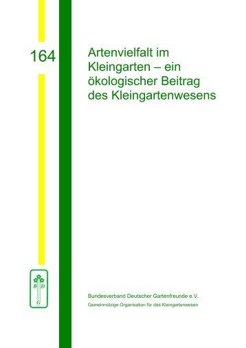 Artenvielfalt im Kleingarten - Bundesverband Deutscher ...