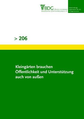 206 - Bundesverband Deutscher Gartenfreunde e.V.