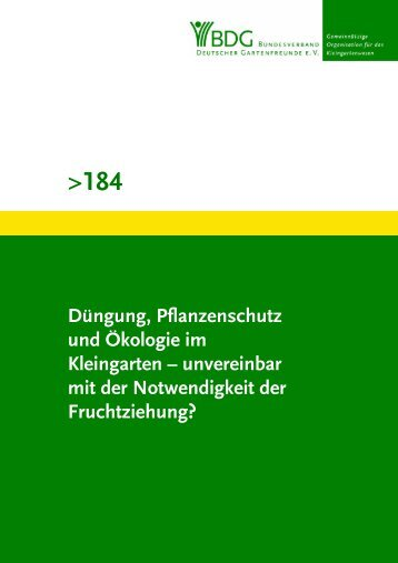 184 - Bundesverband Deutscher Gartenfreunde e.V.
