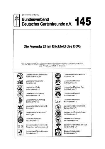 145 - Bundesverband Deutscher Gartenfreunde e. V.
