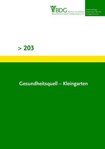 203 - Bundesverband Deutscher Gartenfreunde e. V.