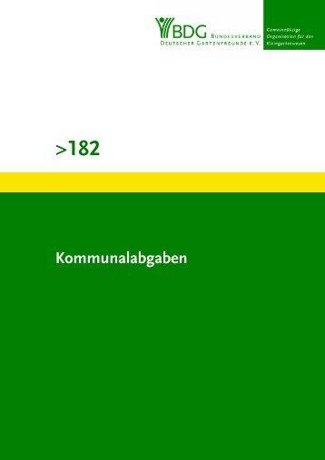 182 - Bundesverband Deutscher Gartenfreunde e. V.