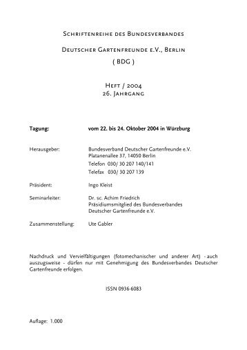 175 - Bundesverband Deutscher Gartenfreunde e. V.