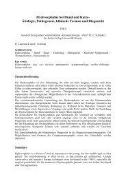 Hydrozephalus bei Hund und Katze- Ätiologie, Pathogenese ...