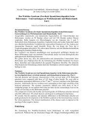 (Zervikale Spondylomyelopathie) beim Dobermann