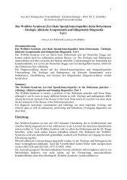 Das Wobbler-Syndrom (Zervikale Spondylomyelopathie) beim ...
