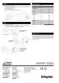 Die Vorteile auf einen Blick Raytek Thermalert Serie Datenblatt - Seite 2