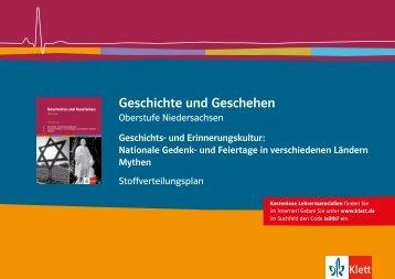 """""""Geschichte- und Erinnerungskultur"""" 430081 ... - Ernst Klett Verlag"""