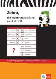 Zebra, die Weiterentwicklung von FRESCH. - Ernst Klett Verlag