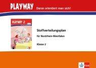 Playway Stoffverteilungsplan Klasse 2 (PDF ... - Ernst Klett Verlag