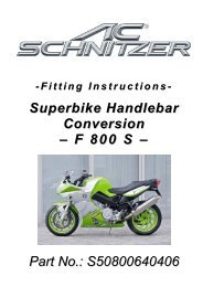 Fitting Instructions - AC Schnitzer