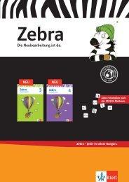 Zebra Prospekt 2013 - Ernst Klett Verlag