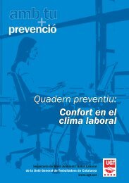 Quadern preventiu: Confort en el clima laboral - UGT